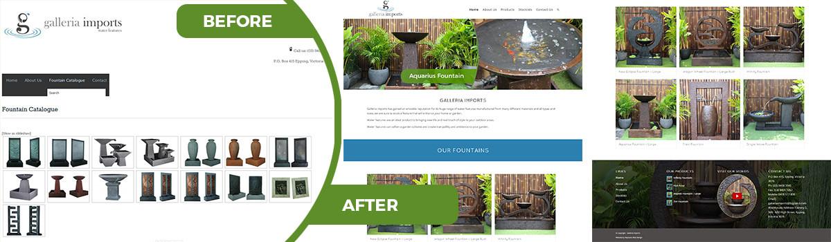 Galleria Imports Web Design