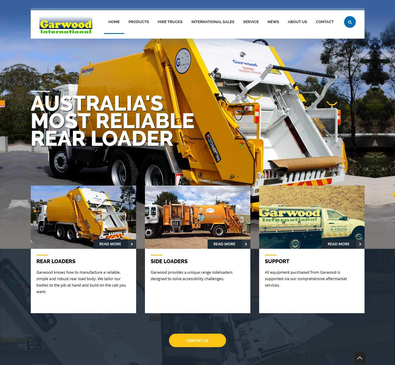 website redesign for garwood international